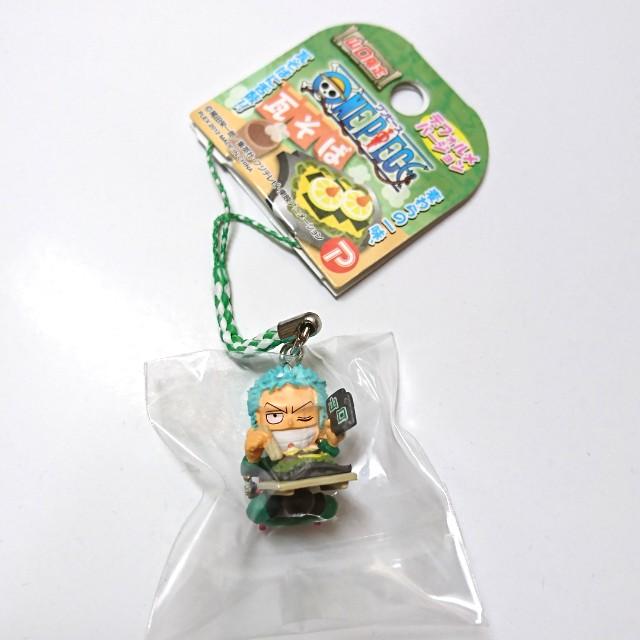 〝新品〞【動漫收藏】One Piece 海賊王/航海王 山口縣限定瓦麵版 索隆 手機吊飾