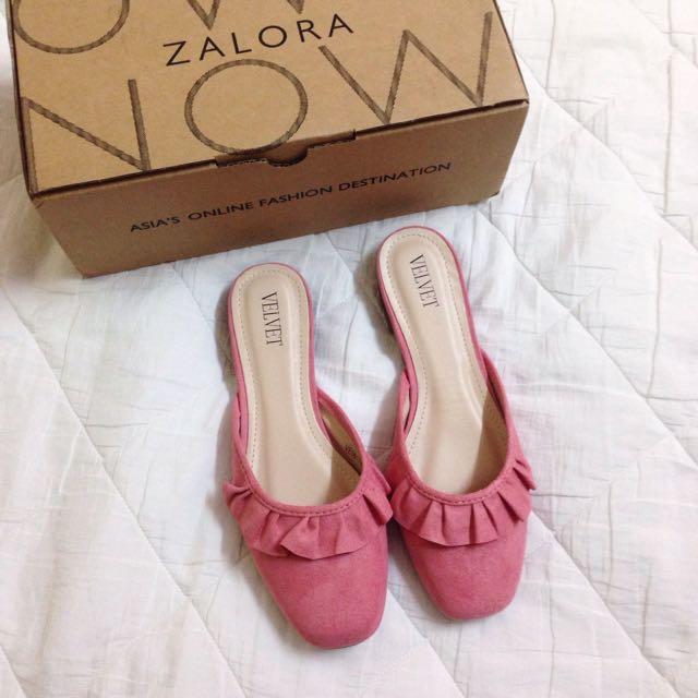 Pink Frill Sandals