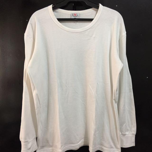 Plain White Sweatshirt XL