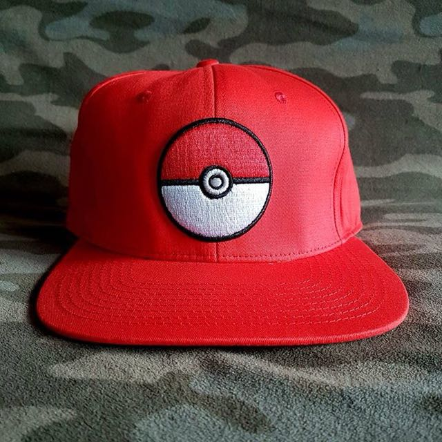 Pokemon Anime Red Otaku Snapback Cap