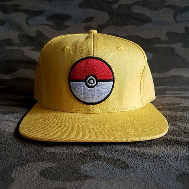 Pokemon Anime Yellow Otaku Snapback Cap