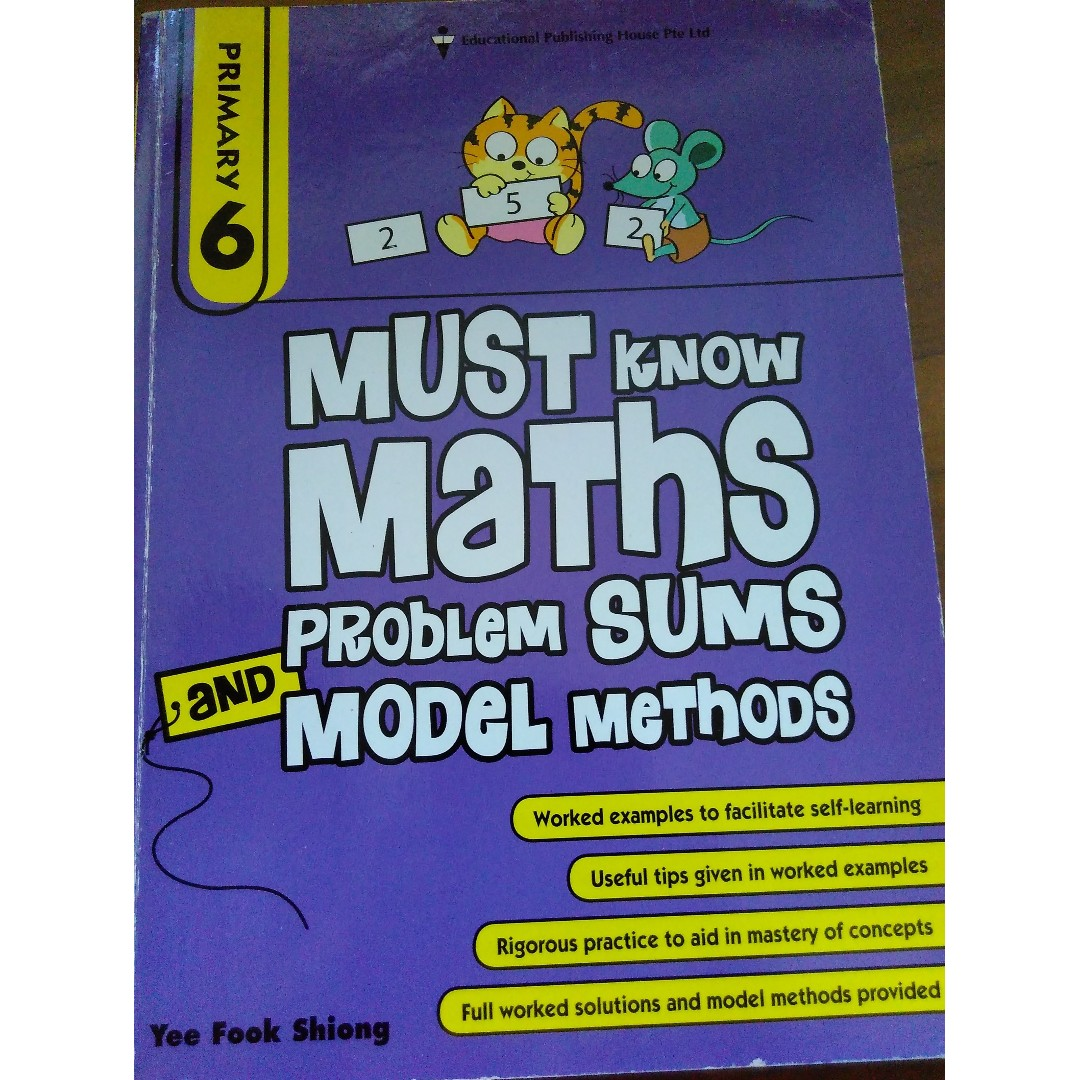 Primary 6 - Must Know Maths Problem Sums and Model Methods, Books ...