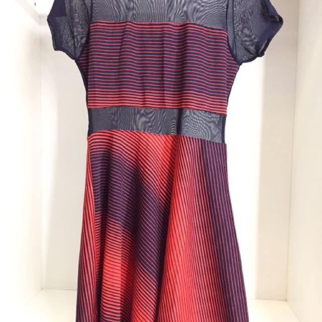 Printed meshed dress