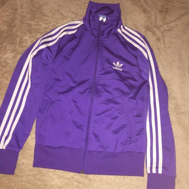 Purple Adidas Zip Up Jacket