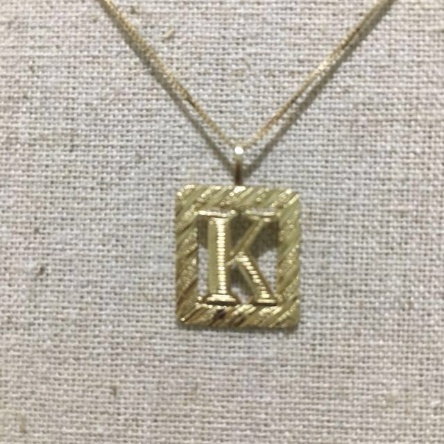 Rb canada jewelry 14k gold necklace with letter k pendant rb canada jewelry 14k gold necklace with letter k pendant preloved womens fashion jewelry on carousell mozeypictures