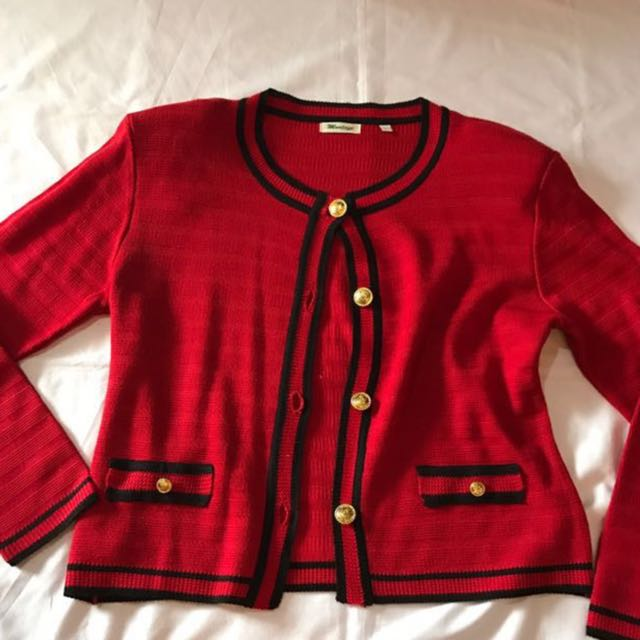 Red Outer Cardigan