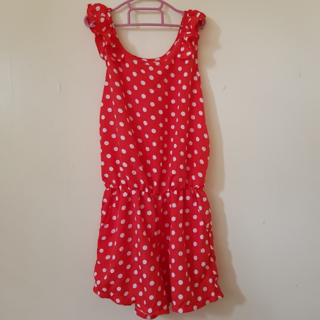 Red Polka Dotted Jumpsuit 💕