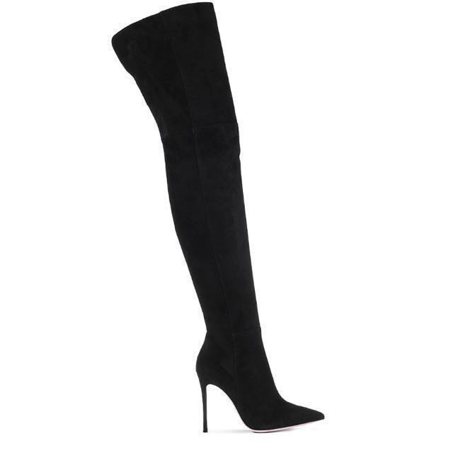 **REDUCED!!**Gianvito Rossi Suede Over Knee Boots!