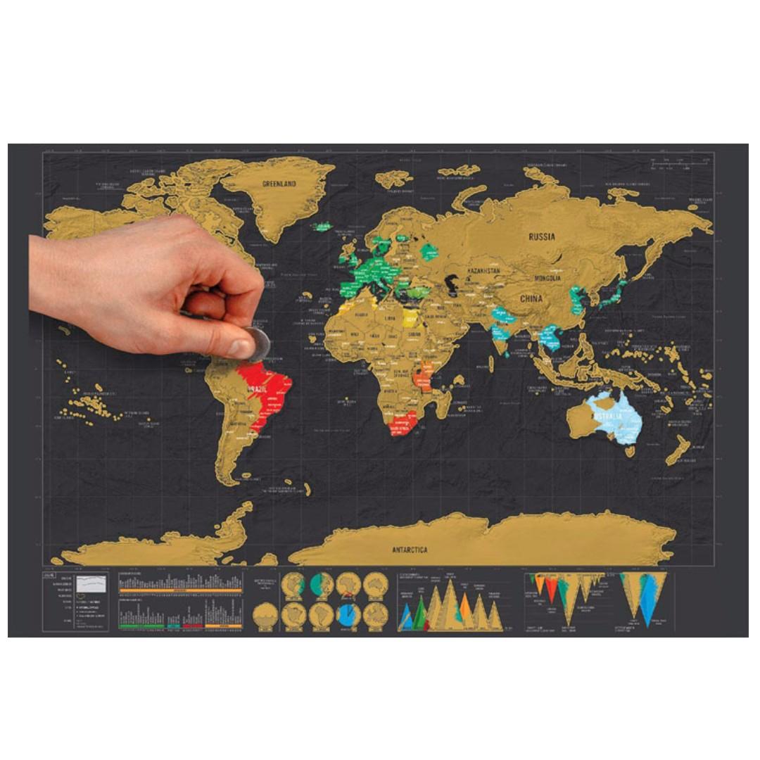 Scratch map visual travel journal world map black mini map toys photo photo gumiabroncs Choice Image