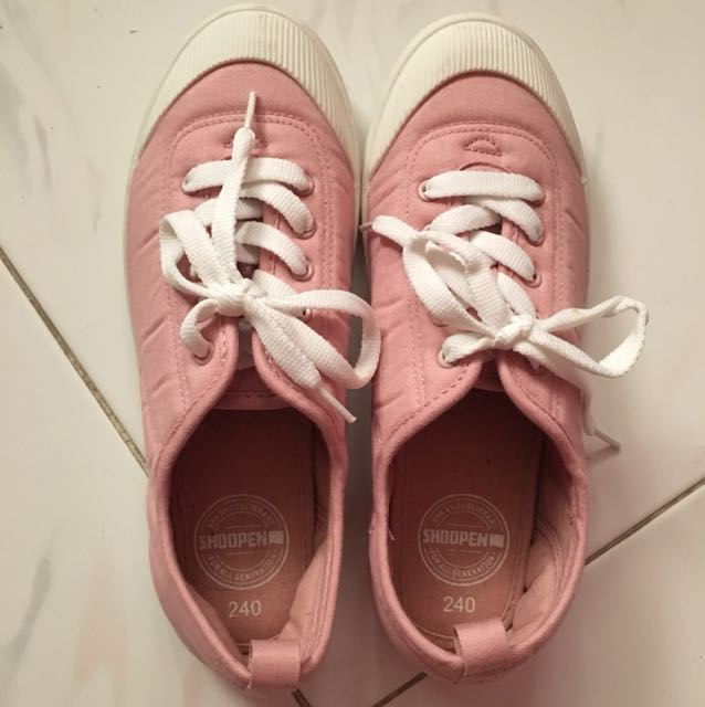 Shoopen pink casual sneakers shoes
