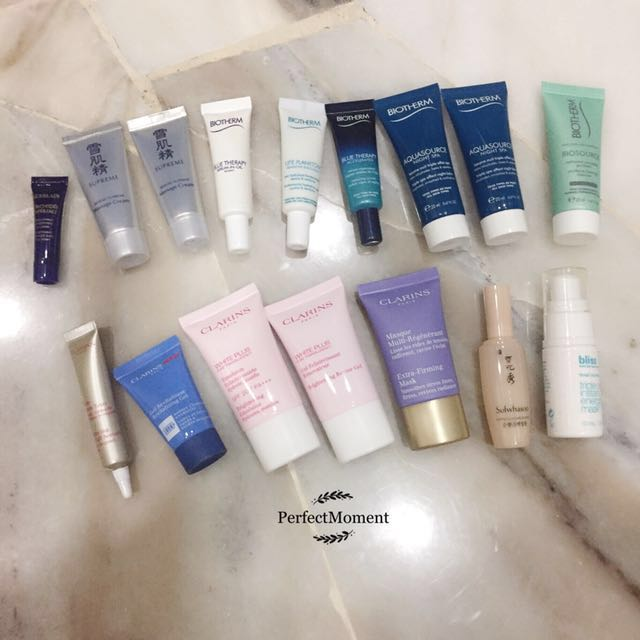Skincare sample clearance