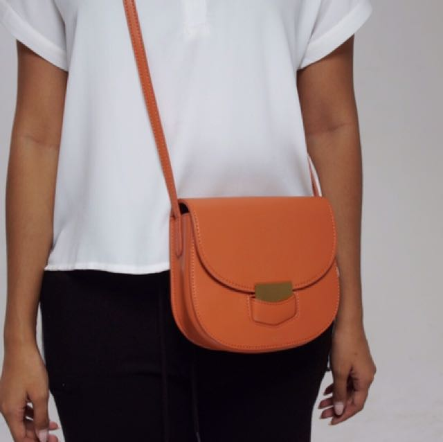 Small Orange Celine Trotteur