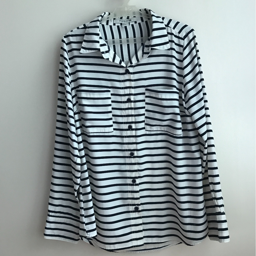 Striped FOREVER 21 Button Down