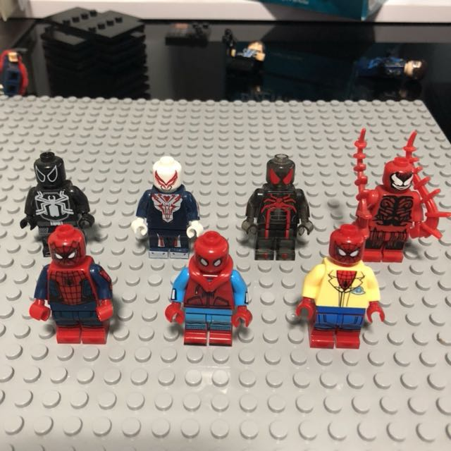 Spider Man Peter Parker In The Lego Incredibles Videogame: Super Heroes Lego Compatible Decool Sheng Yuan Sy Toy