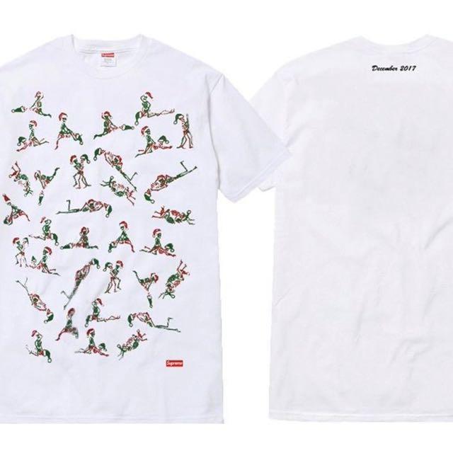6403eba4cdcd Supreme Christmas Tee, White, M, Men's Fashion, Clothes on Carousell