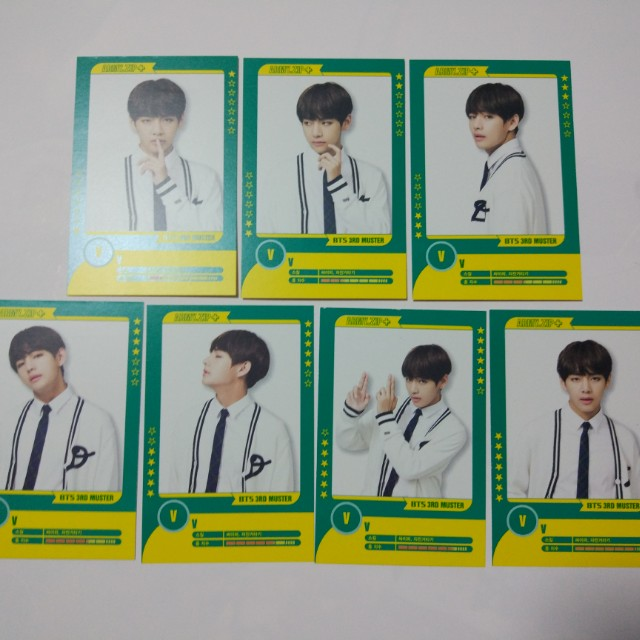 BTS Taehyung Player Card Set (#6 slightly damaged)