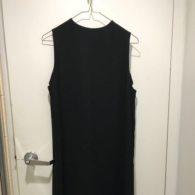 topshop black sleeveless highneck dress