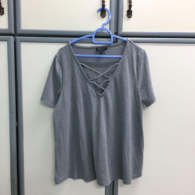 Topshop Grey Top