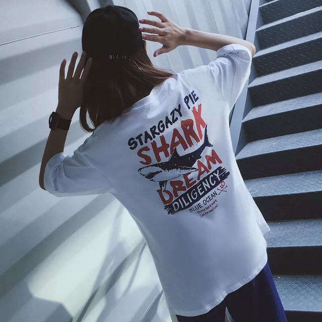 Ulzzang Oversized Shark Dream TOP (PO)
