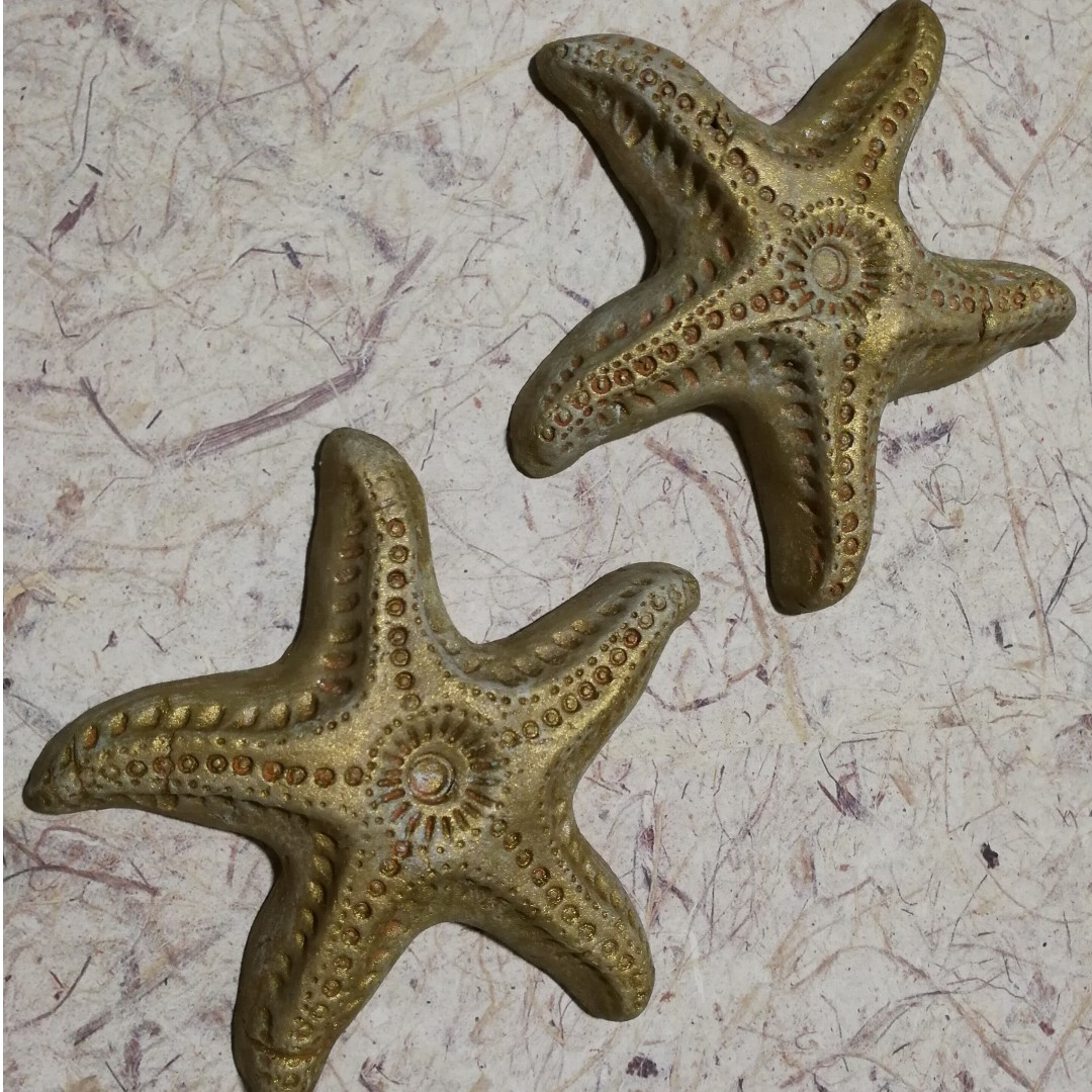 Unique Shimmery Starfish (Clay)