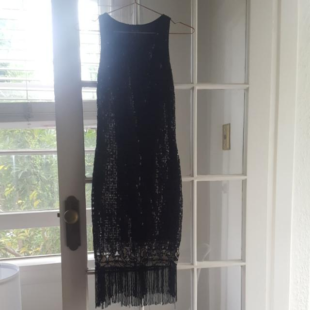 Unique Vintage Flapper Event Dress Size S Sequins