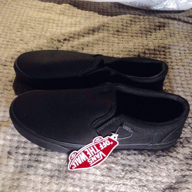 Vans Triple Black Asher Slip On From U