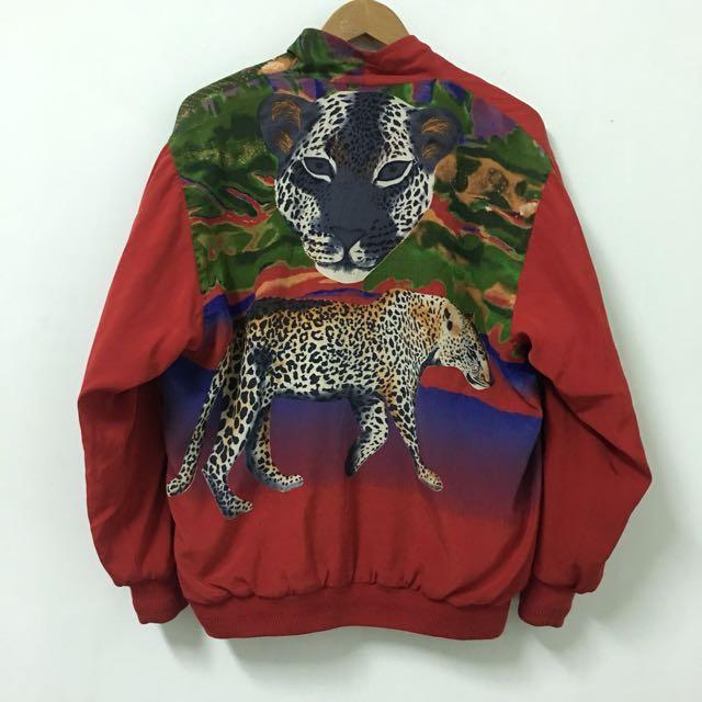 Vintage 古著復古紅外套(豹)