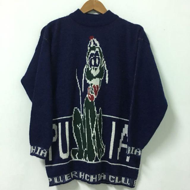 Vintage 深藍古著毛衣