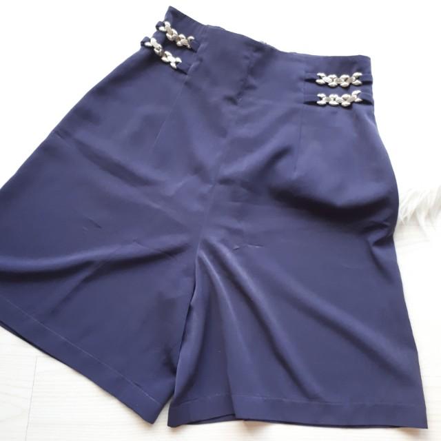 Vintage SUPER HIGHWAIST blue shorts
