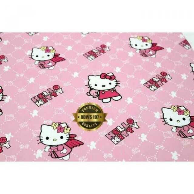 Wallpaper Dinding Motif Pink Karakter Hello Kitty Kamar Anak Home