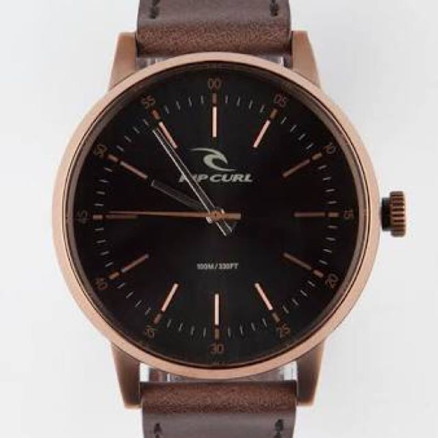 Waterproof leather strap Ripcurl watch