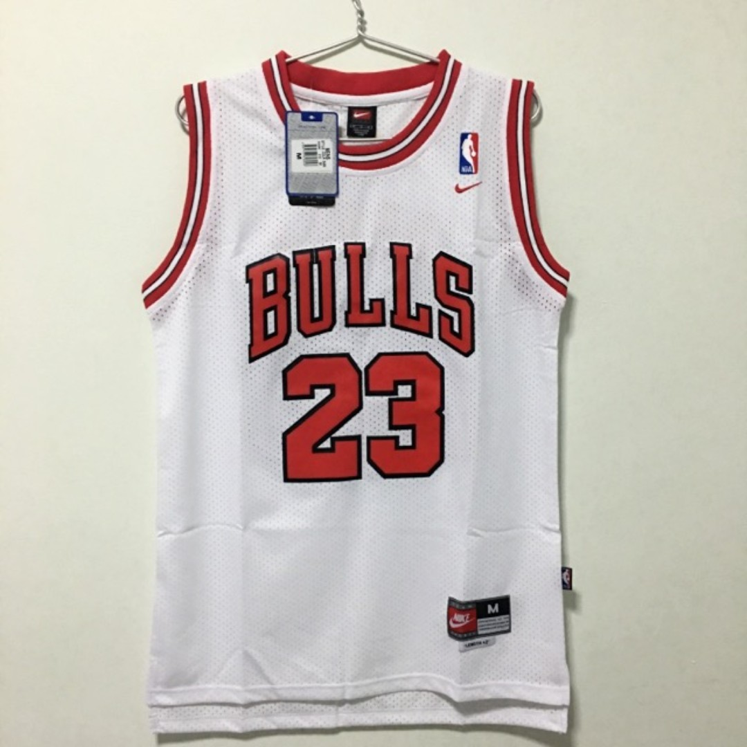 238af7b12c1 (M) Chicago Bulls  23 Michael Jordan Basketball NBA Jersey White