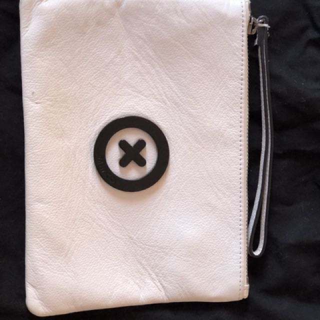 White medium Mimco pouch