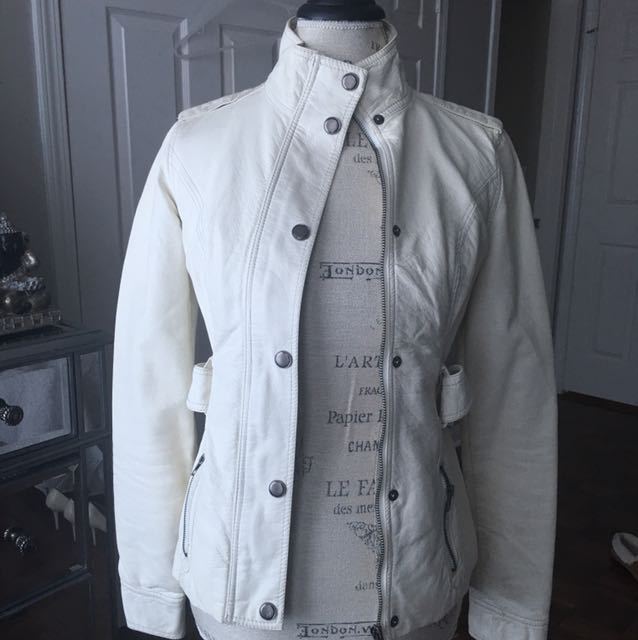 White pleather jacket