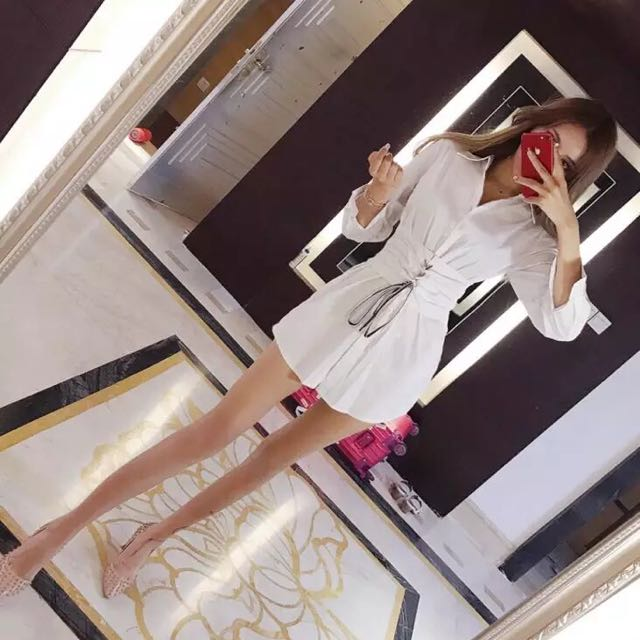 White shirt style one piece