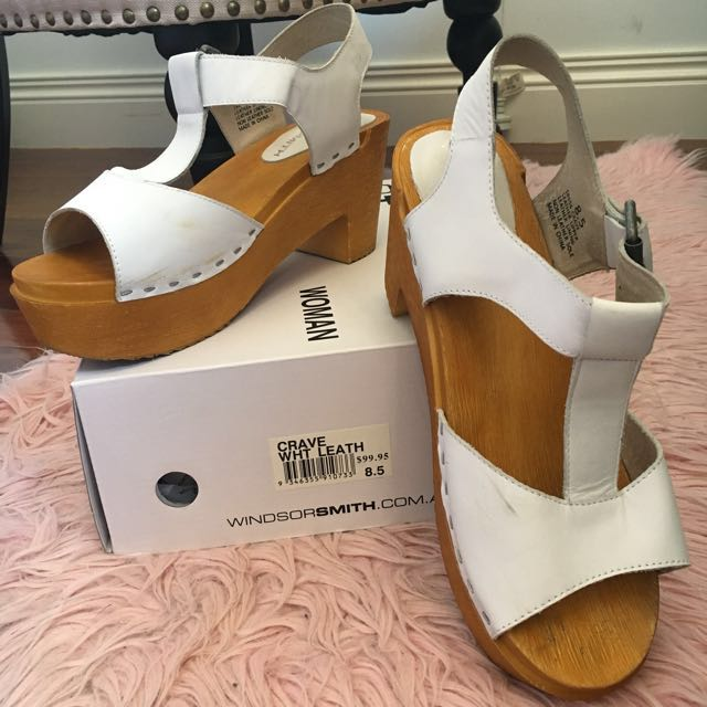 Windsor Smith Upper Leather Blocked Heels