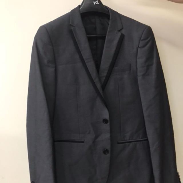 YD Grey Trimmed Suit