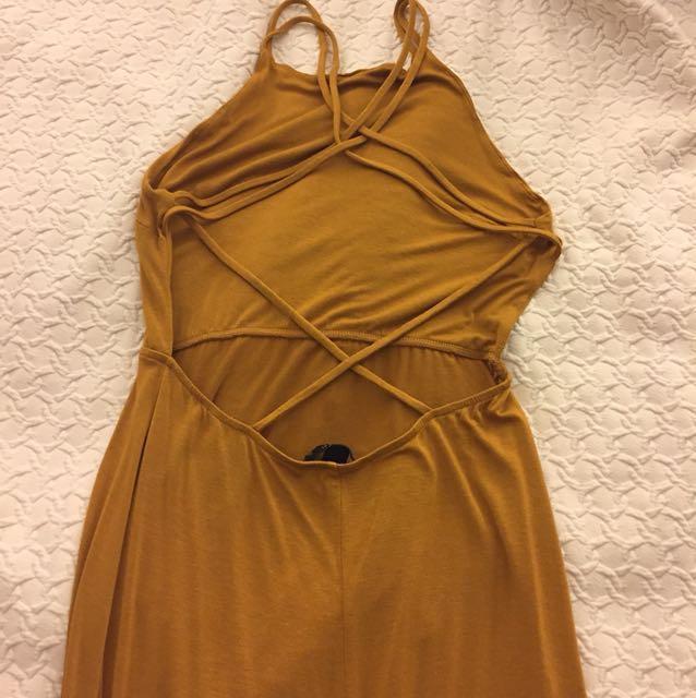Yellow F21 maxi dress