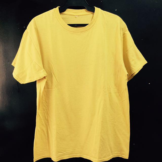 Yellow Plain Tee Large