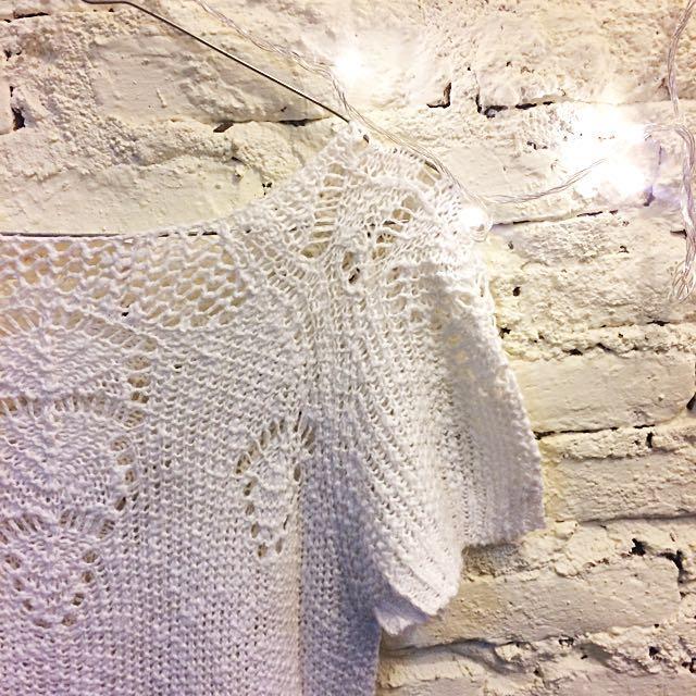 ZARA Knit White