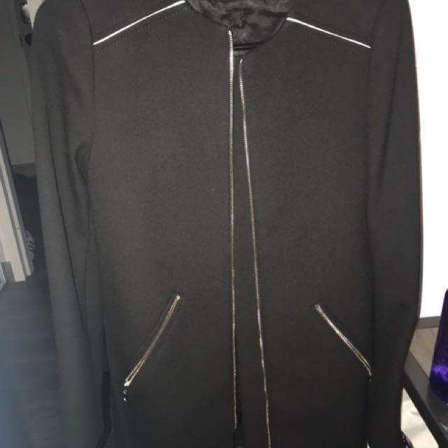 Zara womens black coat xs