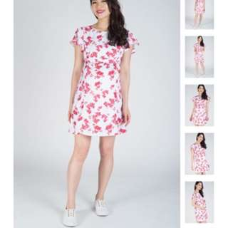 Jump Eat Cry Butterfly Sleeves Nursing Dress