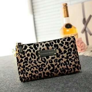 Victoria Secret glitter leopard Pouch