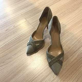🚚 全新🗣Banana republic 墨綠色麂皮高跟鞋