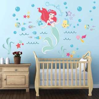 💕 Little Mermaid Ariel wall decal / wall stickers / Home deco