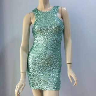 TFNC London Mint Sequins Dress