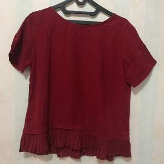 Preloved! Red Maroon top baru pakai 1x