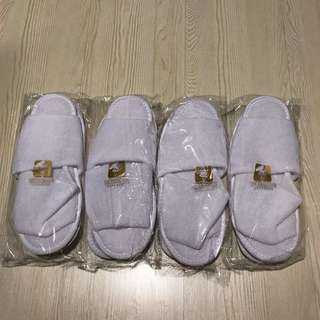 Hotel bedroom slippers