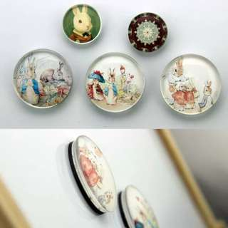 Round MagnetsCustomized Round 3D Photo magnets for fridge/Gift