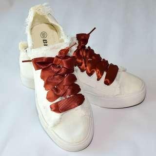 Satin shoe lace Coffee